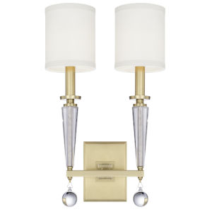 Paxton Antique Gold Two-Light Sconce
