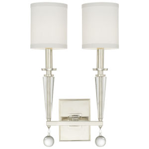 Paxton Polished Nickel Two-Light Sconce