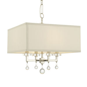 Paxton Polished Nickel Four-Light Mini Chandelier