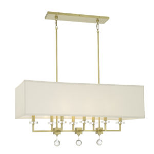 Paxton Antique Gold Eight-Light Chandelier