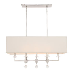 Paxton Eight-Light Polished Nickel Chandelier
