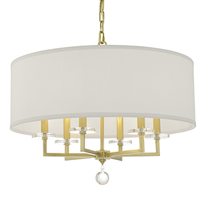 Paxton Antique Gold Six-Light Chandelier