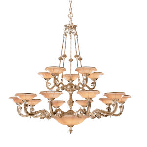 Hot Deal Weathered Patina 15-Light Chandelier