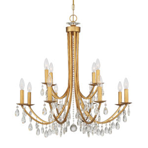 Bridgehampton Antique Gold 32-Inch 12-Light Chandelier