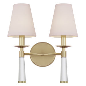 Baxter Aged Brass Two-Light Sconce