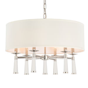 Baxter Polished Nickel Six-Light Pendant