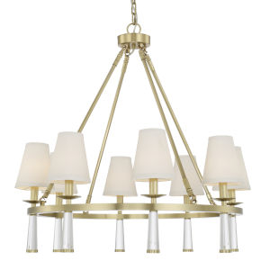 Baxter Aged Brass Eight-Light Chandelier