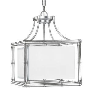 Masefield Antique Silver 15-Inch Wide Four-Light Pendant by Libby Langdon