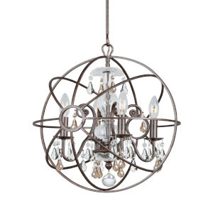Solaris Four-Light English Bronze Chandelier