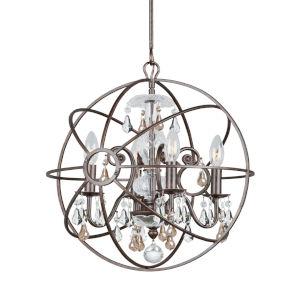 Solaris Four-Light English Bronze Chandelier