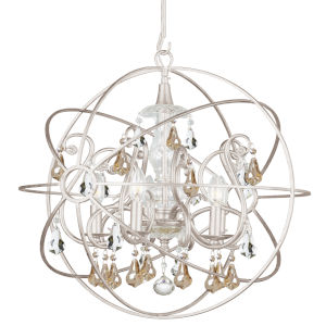 Solaris Five-Light Olde Silver Chandelier