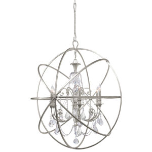 Solaris Six-Light Olde Silver Chandelier