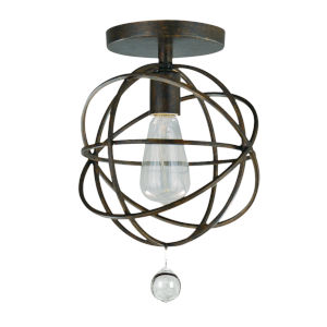 Solaris Bronze One-Light Ceiling Mount