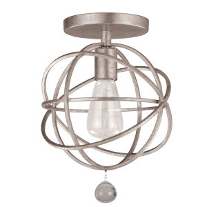 Solaris Silver One-Light Ceiling Mount