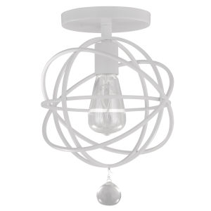 Solaris Wet White One-Light Ceiling Mount