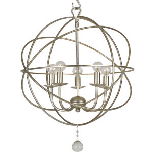 Solaris Olde Silver Five-Light Mini Chandelier