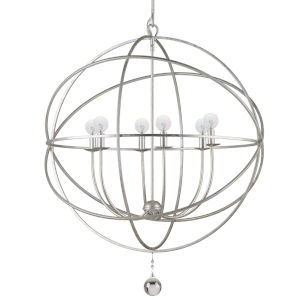 Solaris Olde Silver Six-Light Chandelier