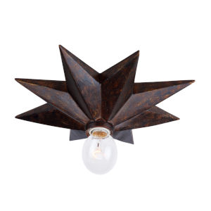 Astro English Bronze One-Light Flush Mount