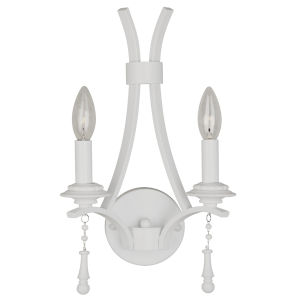 Parson Wet White Two-Light Wall Sconce