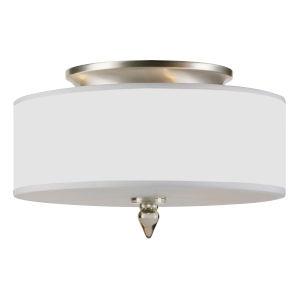 Luxo Satin Nickel Three-Light Semi Flush Mount