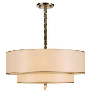Luxo Antique Brass Five-Light Pendant