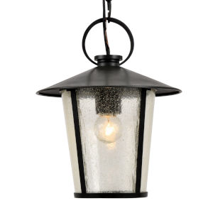 Andover Matte Black One-Light Outdoor Pendant