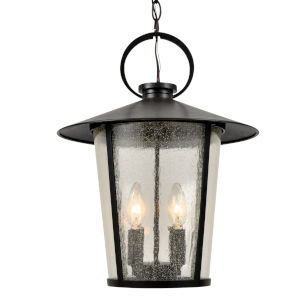 Andover Matte Black Four-Light Outdoor Pendant