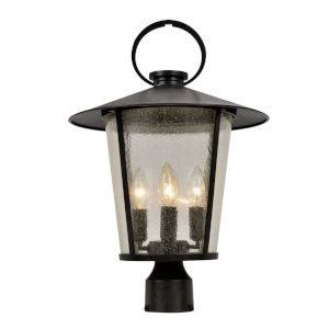 Andover Matte Black Four-Light Outdoor Post Mount