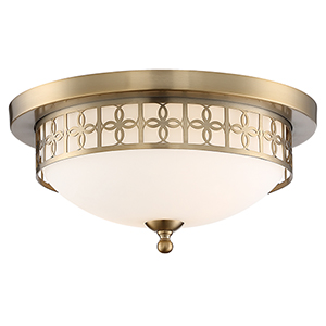 Anniversary Vibrant Gold Two-Light Flush Mount