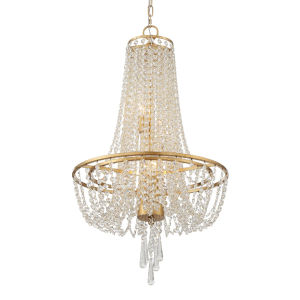 Arcadia Antique Gold 18-Inch Four-Light Chandelier