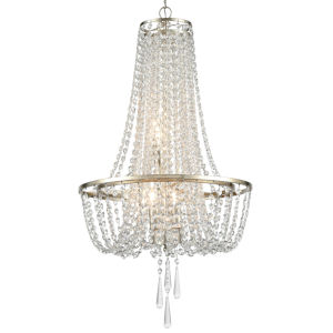 Arcadia Antique Silver Four-Light Chandeliers