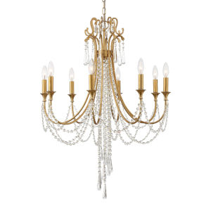 Arcadia Antique Gold 26-Inch Eight-Light Chandelier