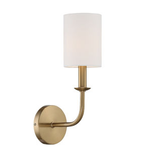 Bailey Aged Brass Five-Inch One-Light Wall Sconce