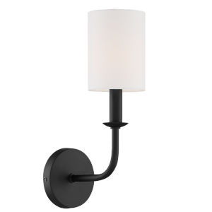 Bailey Matte Black Five-Inch One-Light Wall Sconce