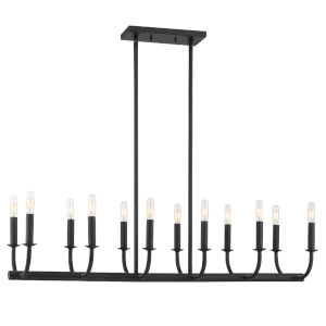 Bailey Matte Black 42-Inch 12-Light Chandelier