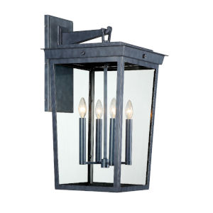 Belmont Graphite 14-Inch Four-Light Outdoor Wall Mount
