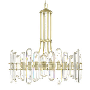 Bolton Aged Brass Six-Light Chandelier