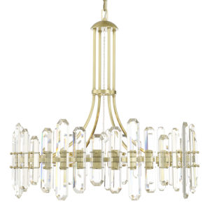 Bolton Aged Brass 12-Light Chandelier