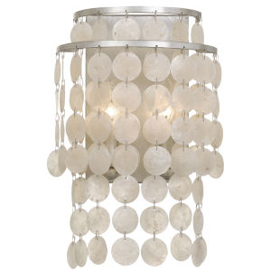 Brielle Two-Light Antique Silver Wall Sconce