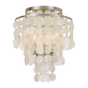Brielle Three-Light Antique Silver Ceiling Mount