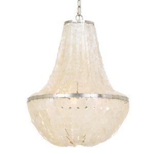 Brielle Six-Light Antique Silver Chandelier