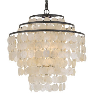 Brielle Dark Bronze Four-Light Chandeliers