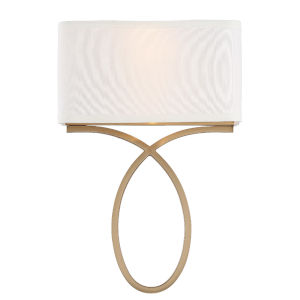 Brinkley Vibrant Gold 10-Inch Two-Light Wall Sconce