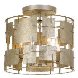 Bronson Four-Light Oxidized Silver Ceiling Mount
