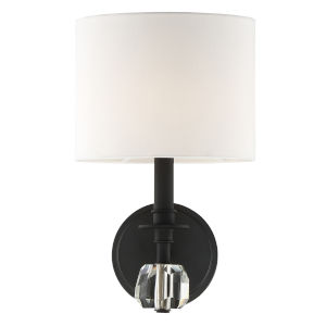 Chimes Black Forged One-Light Wall Sconce