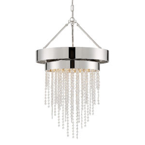 Clarksen Polished Nickel 20-Inch Five-Light Chandelier