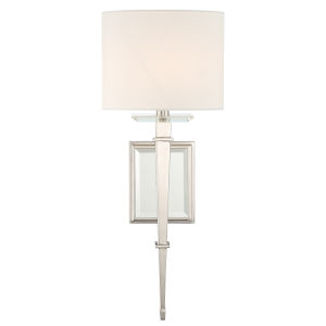 Clifton One-Light Polished Nickel Wall Sconce