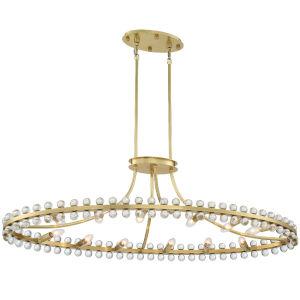 Clover Aged Brass 45-Inch 12-Light Chandelier