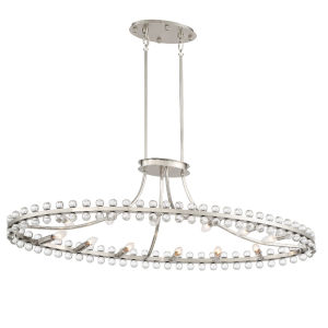Clover Brushed Nickel 45-Inch 12-Light Chandelier