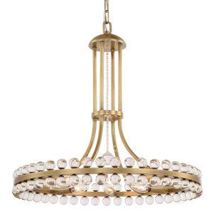 Clover Eight-Light Aged Brass Chandelier